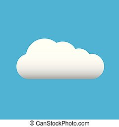 White cloud on blue sky. Vector illustration