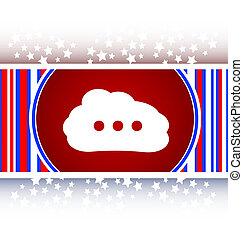 white cloud on internet icon