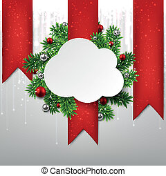 White cloud paper christmas card.