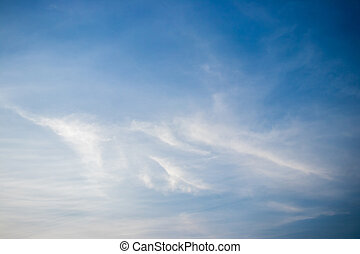 White cloud with blue sky background, have the copy space