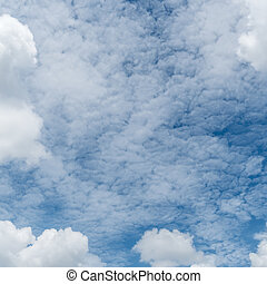 White cloud with Blue sky
