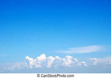 blue sky - white clouds against blue sky