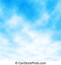 White clouds - Editable vector illustration of white clouds...