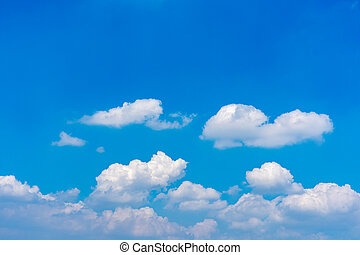 White clouds floating on blue sky background