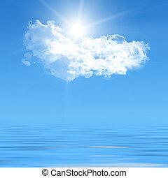 blue sky  - White clouds in blue sky