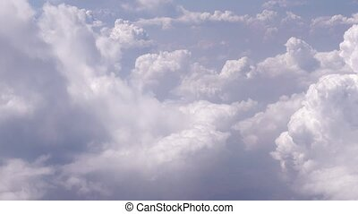 White clouds in sky close up