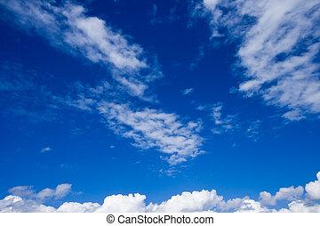 White clouds in sky