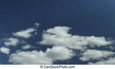 white clouds in the blue sky evolut