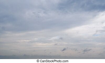 White clouds in the blue sky. Timelaps - White clouds in the...