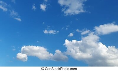 white clouds on blue sky background, design element - clouds...