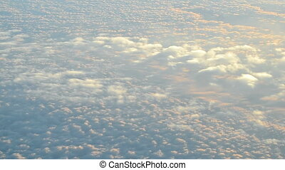 white clouds on blue sky, nature