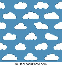 white clouds seamless pattern
