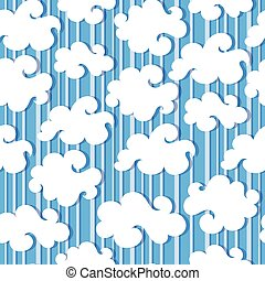 White clouds seamless - White clouds and blue sky vector...