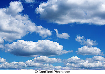 White clouds - White fluffy clouds on a blue sky
