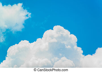 white clouds with the blue sky
