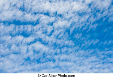 White cloudy blue sky background