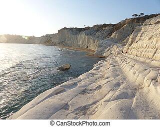 White coastline