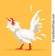 White cock crow