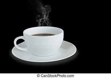 White coffee cup isolated with clipping path