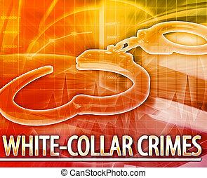White-collar crime Abstract concept digital illustration -...