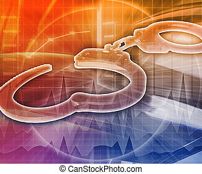 White-collar crime Abstract concept digital illustration