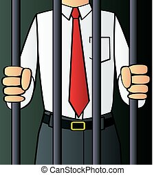 A corrupt white collar criminal behind bars.
