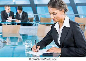 White collar worker - Attractive white collar worker is...