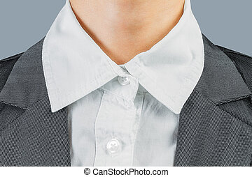 White collar worker - White collar neck of office worker,...