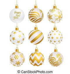 christmas tree balls icons