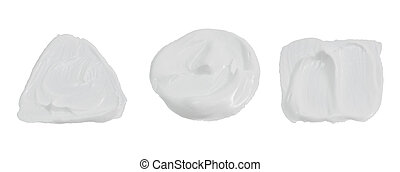 White color paint isolated on white