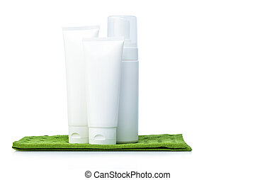 White colored blank cosmetic packaging for face cream...