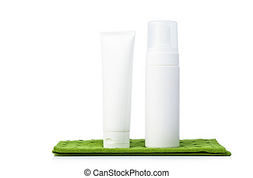 White colored blank cosmetic packaging