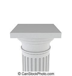 White column - Classic column. 3d illustration on white...