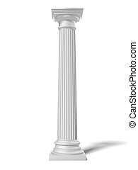 White column isolated on a white background