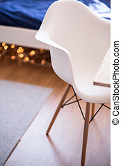 White comfortable new design chair
