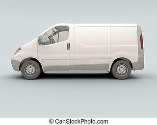 White commercial van