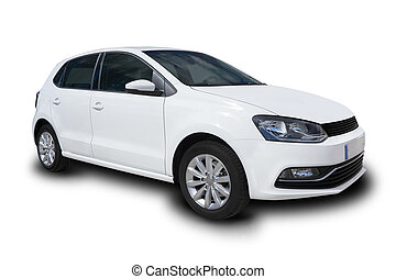 White Compact Four Door Car