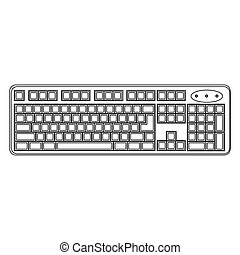 white computer keyboard icon