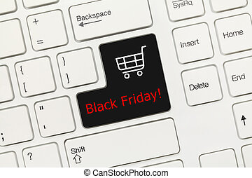 White conceptual keyboard - Black Friday