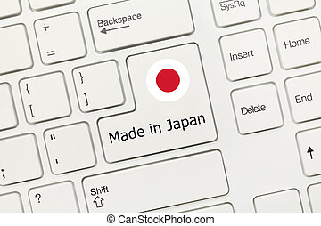 White conceptual keyboard - Made in Japan (key with flag) - ...
