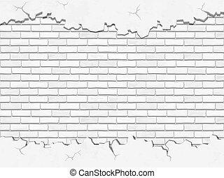 white concrete and brick vector background