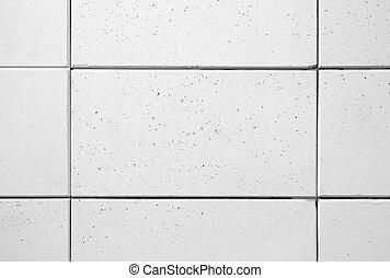 White concrete blocks