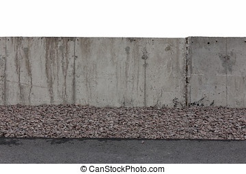 white concrete fence