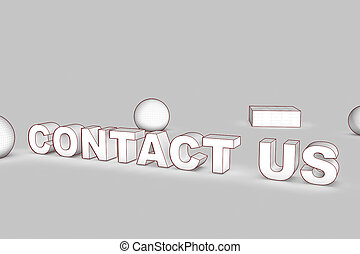 white contact us