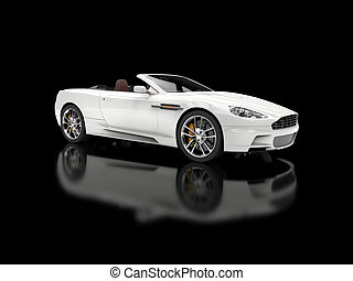 White convertible sports car