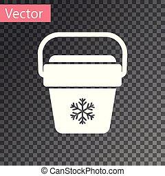 White Cooler bag icon isolated on transparent background. Portable freezer bag. Handheld refrigerator. Vector Illustration