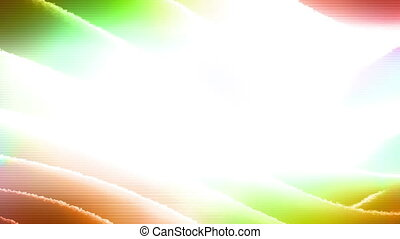 White copy space center surrounded by multicolored abstract CG looping background