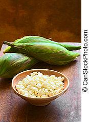 White Corn Called Choclo (Peruvian or Cuzco Corn) - Kernels...