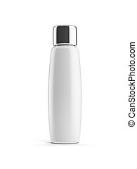 White cosmetic bottle