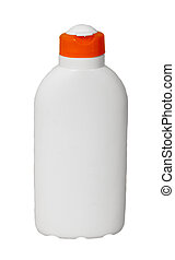white cosmetic bottle isolated on white